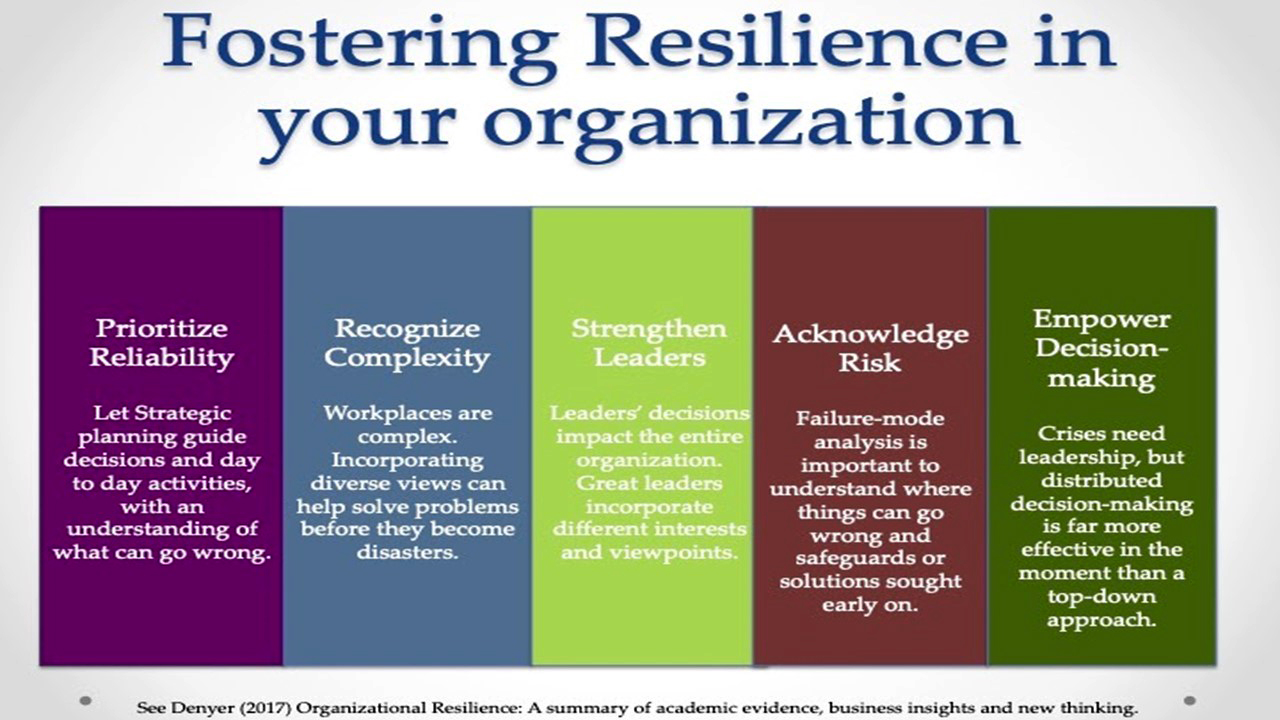 Components and attitudes in highly resilient organizations
