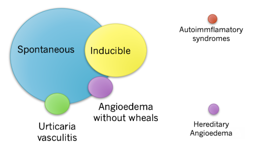 Distribution of clinical presentation of patients with urticaria